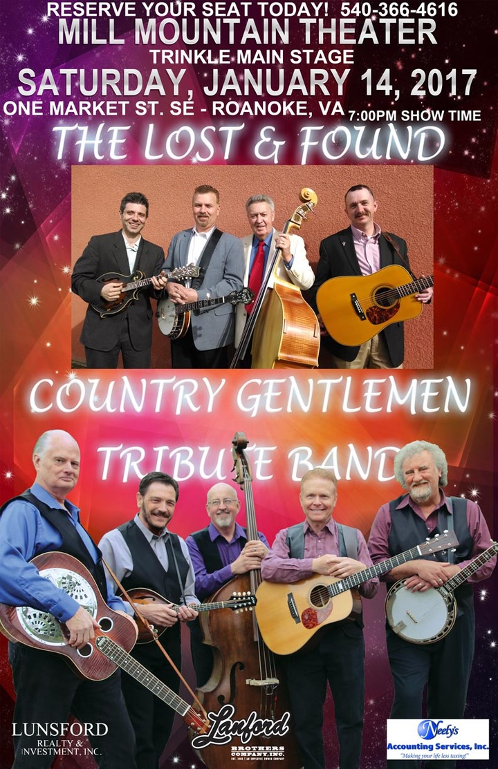The Country Gentlemen Tribute Band @ Mill Mountain Theater - Roanoke, VA