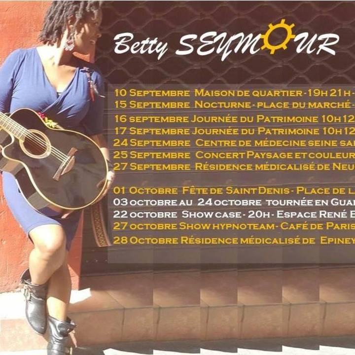 BETTY SEYMOUR Tour Dates