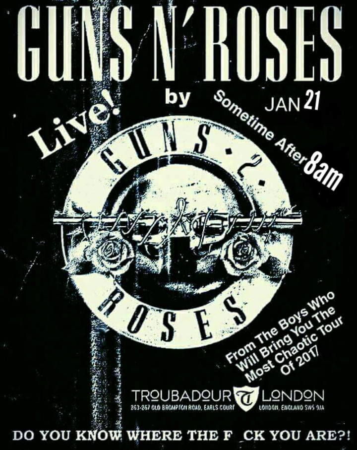Guns 2 Roses - UK Guns N Roses Tribute @ O2 Arena / Brooklyn Bowl  - London, United Kingdom