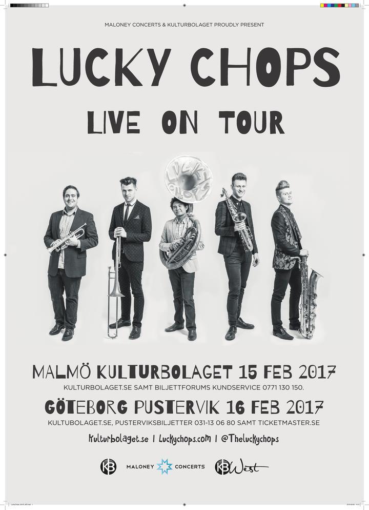 Lucky Chops @ Pustervik - Göteborg, Sweden
