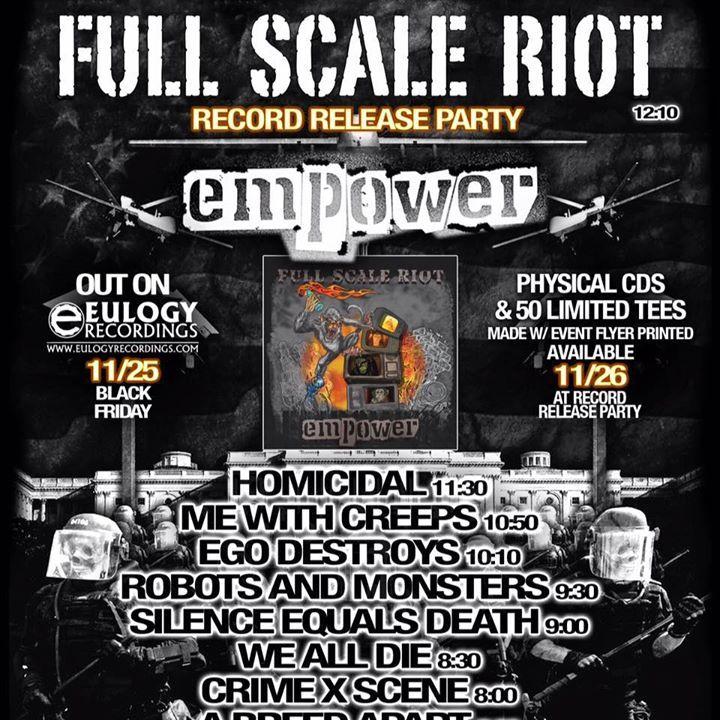 Full Scale Riot Tour Dates