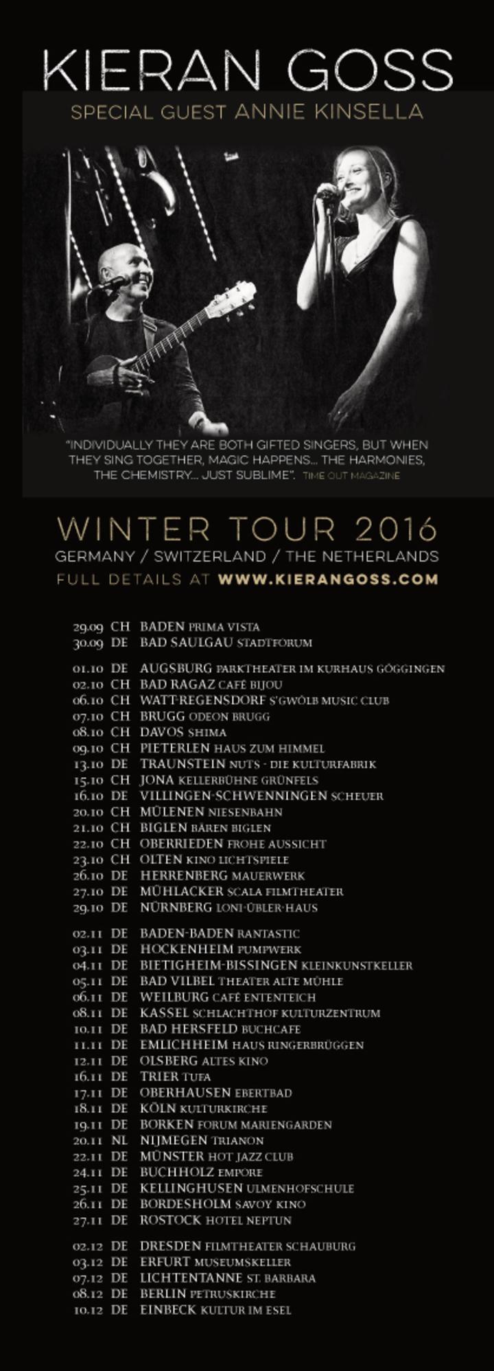 Kieran Goss @ GERMANY | EINBECK | Kultur im Esel - Einbeck, Germany