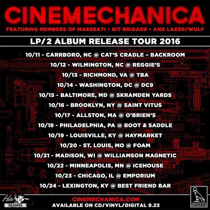 Cinemechanica Tour Dates