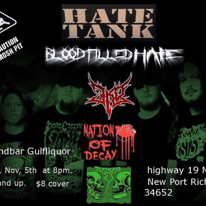 Blood Filled Hate Tour Dates