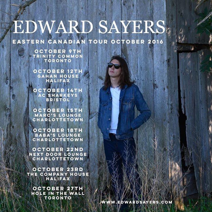 Edward Sayers Tour Dates