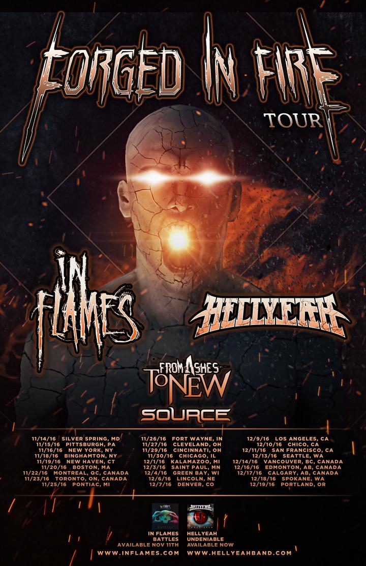 In Flames @ Union Hall - Edmonton, Canada