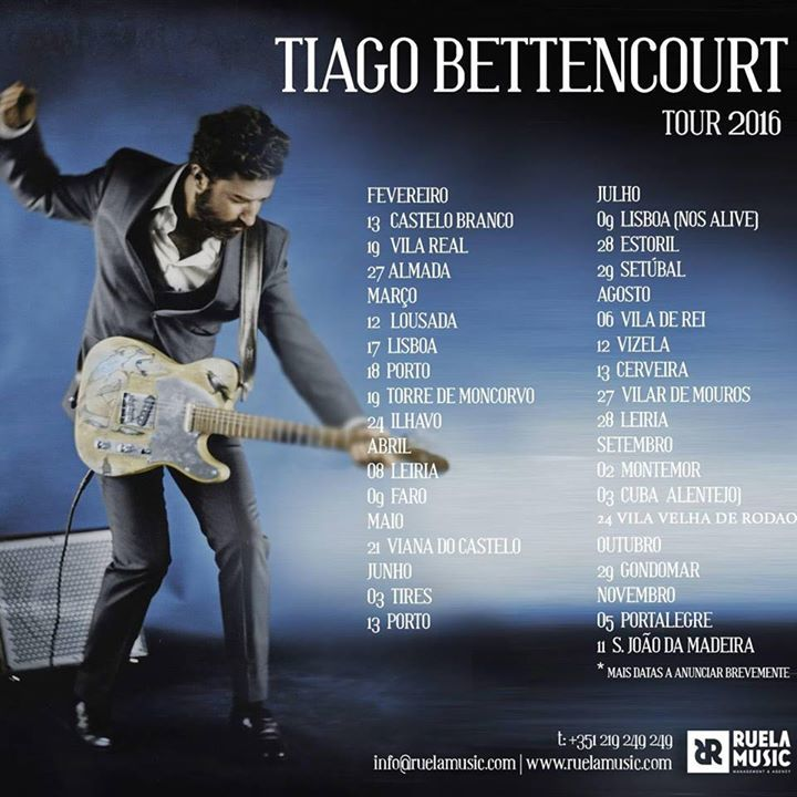 Tiago Bettencourt Tour Dates
