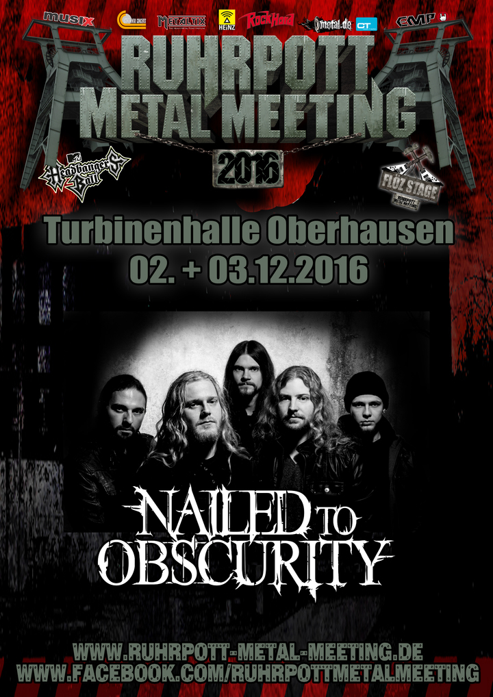 Nailed to Obscurity @ Turbinenhalle - Oberhausen, Germany