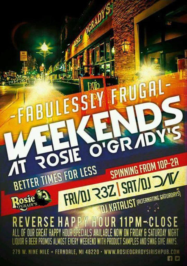 DJ DAV @ Rosie O'Grady's - Ferndale, MI