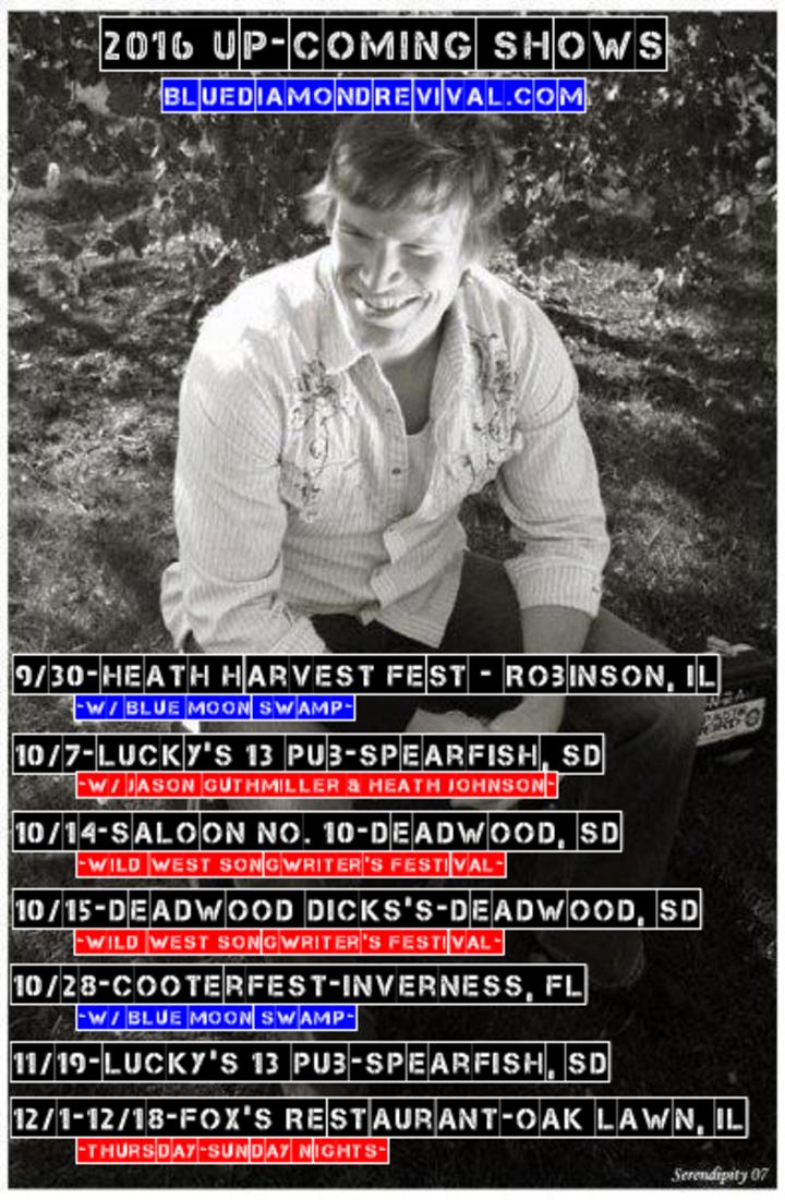Dan McGuinness & Blue Diamond Revival Tour Dates