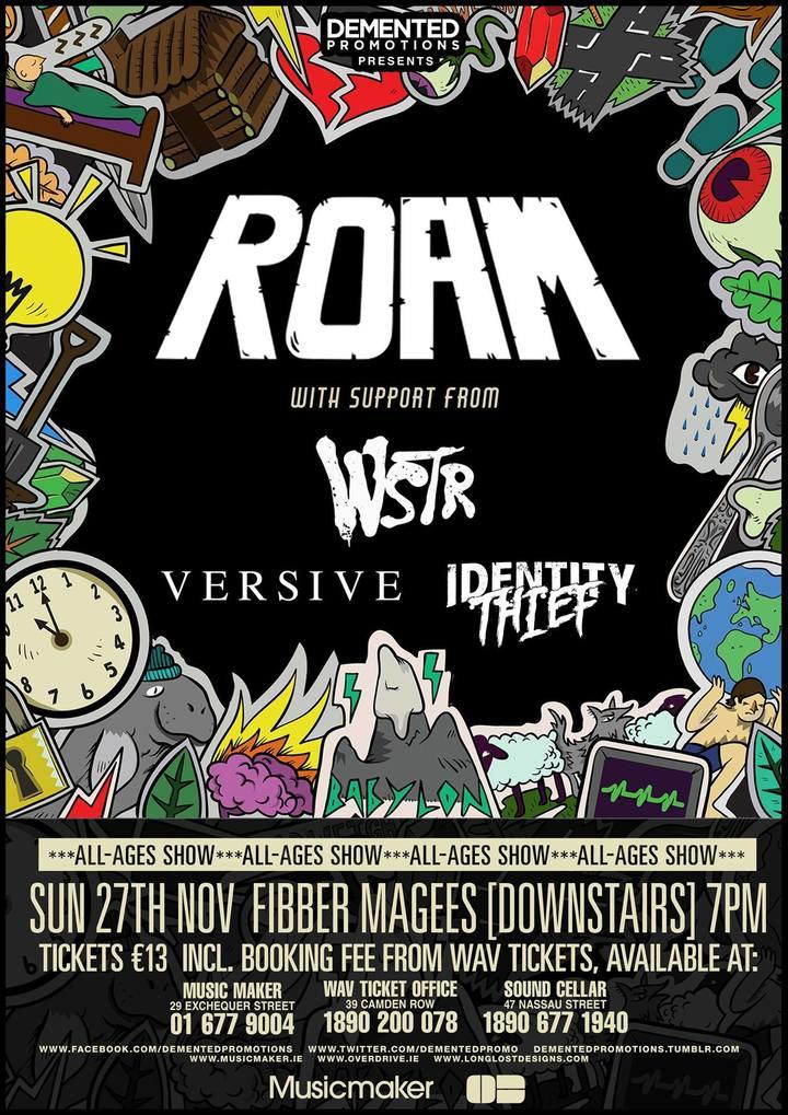 Versive @ Fibbers/w ROAM - Dublin, Ireland