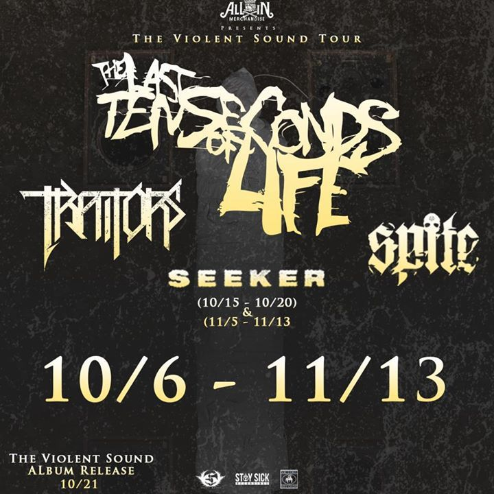 The Last Ten Seconds of Life Tour Dates