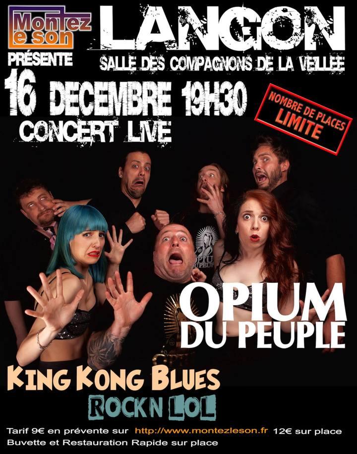 King Kong Blues @ Salle des Compagnons de la Veillée - Langon, France