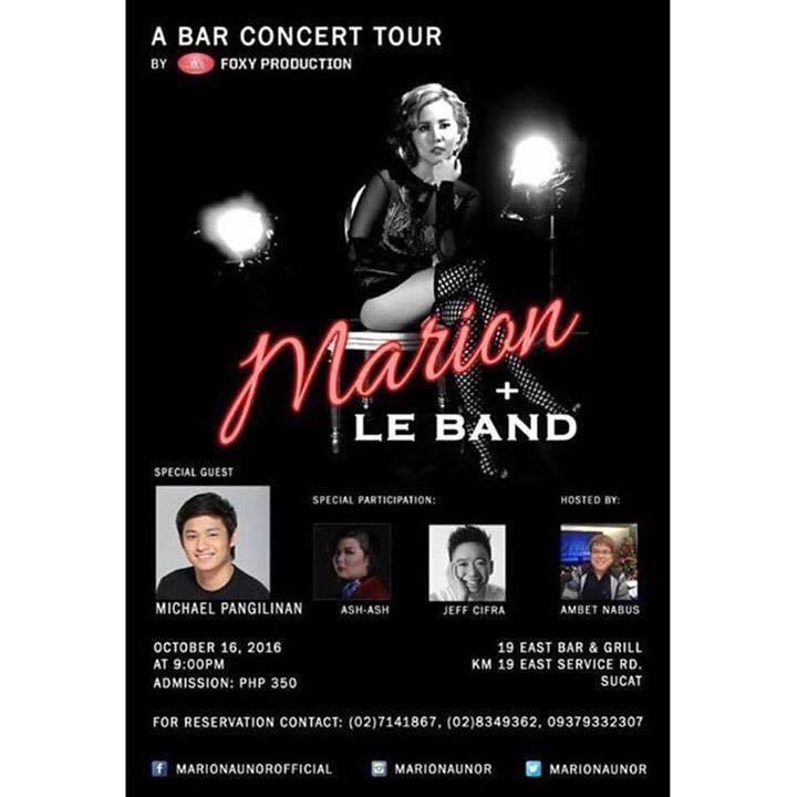 Marion Tour Dates