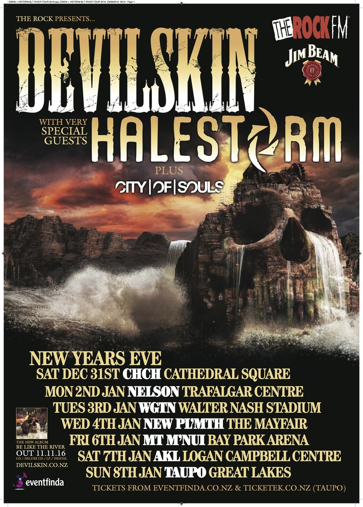 Halestorm @ Cathedral Square - Christchurch, New Zealand