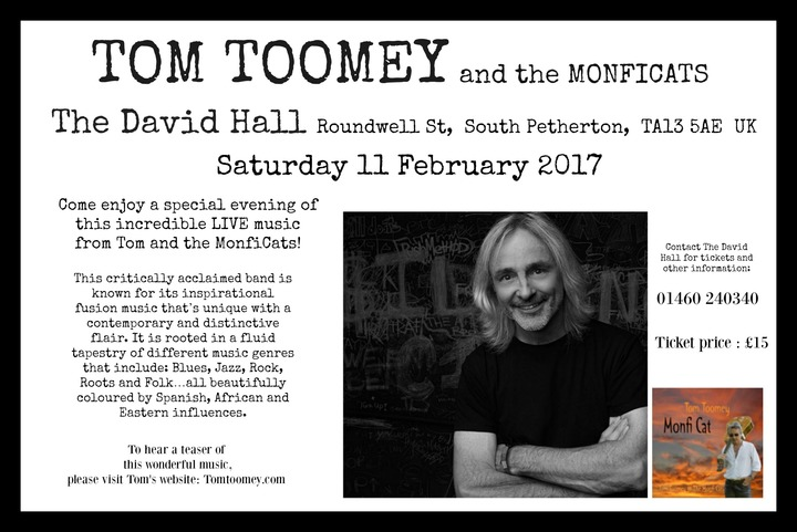 Tom Toomey @ The David Hall  - South Petherton, United Kingdom