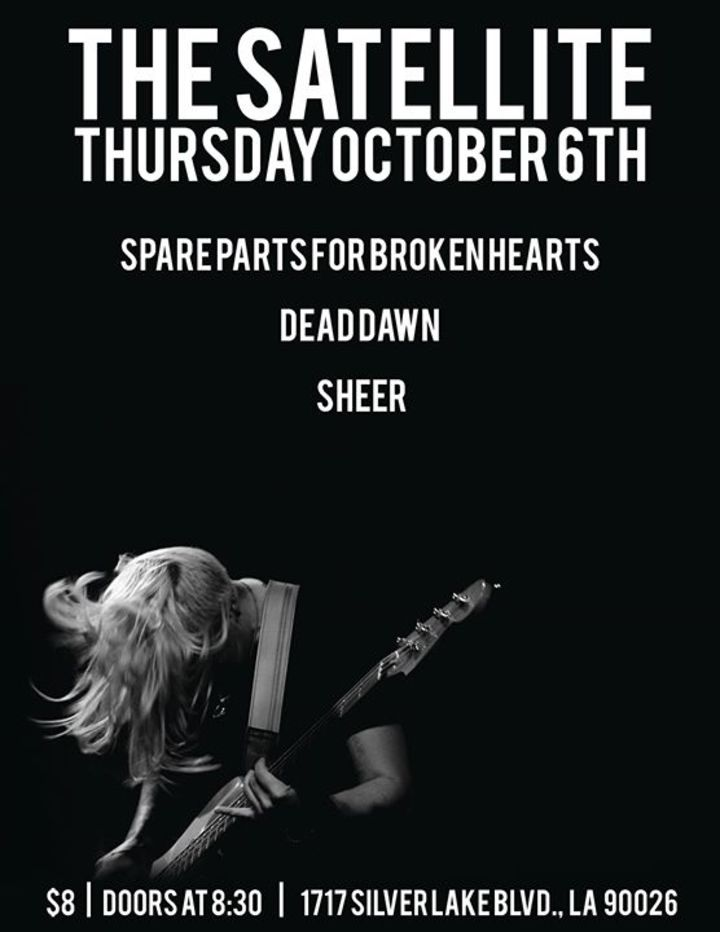 Spare Parts for Broken Hearts Tour Dates