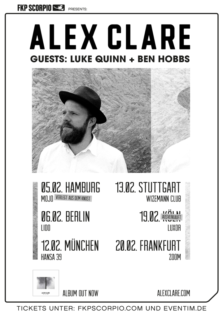 Alex Clare @ Luxor - Cologne, Germany