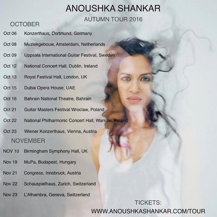 Anoushka Shankar Tour Dates