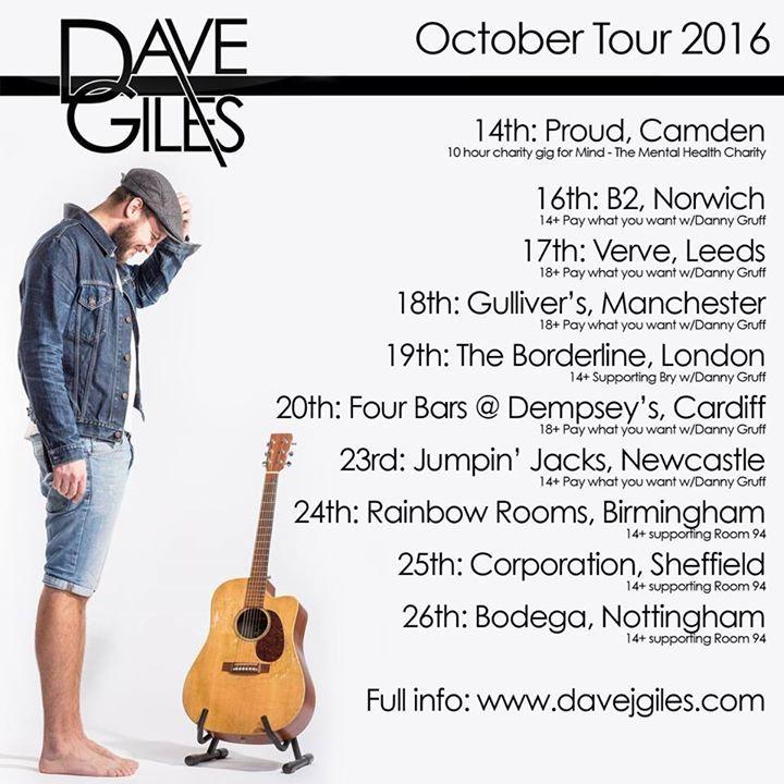 Dave Giles Tour Dates