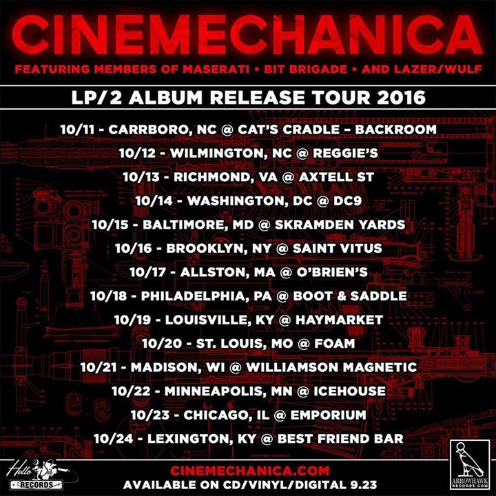 Cinemechanica Tour Dates