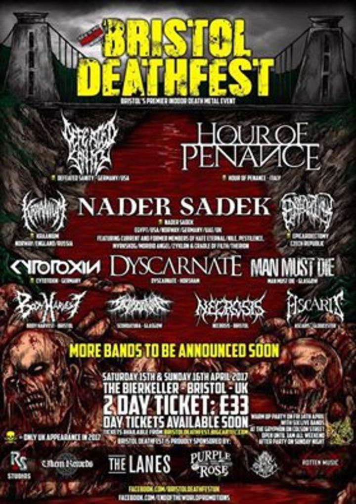 Hour of Penance @ Bristol Death Fest - Bristol, United Kingdom