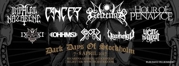 Hour of Penance @ Arena Globen - Stockholm, Sweden