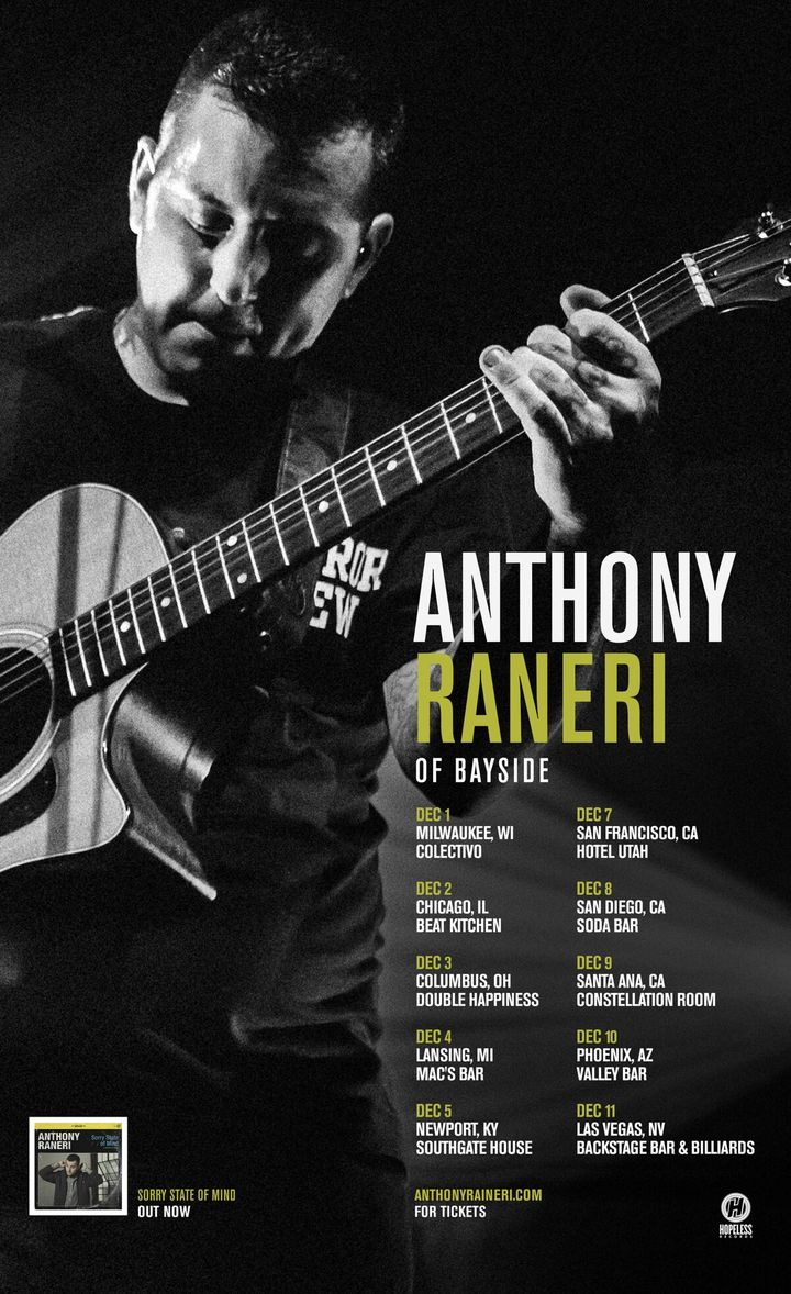 Anthony Raneri @ Beat Kitchen - Chicago, IL