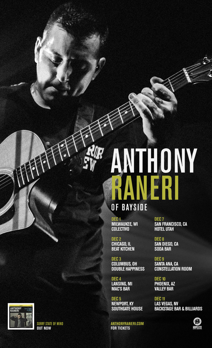 Anthony Raneri @ Constellation Room - Santa Ana, CA