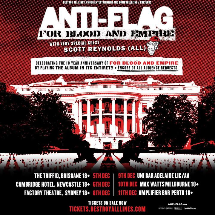 Anti-Flag @ The Cambridge Hotel - Newcastle, Australia