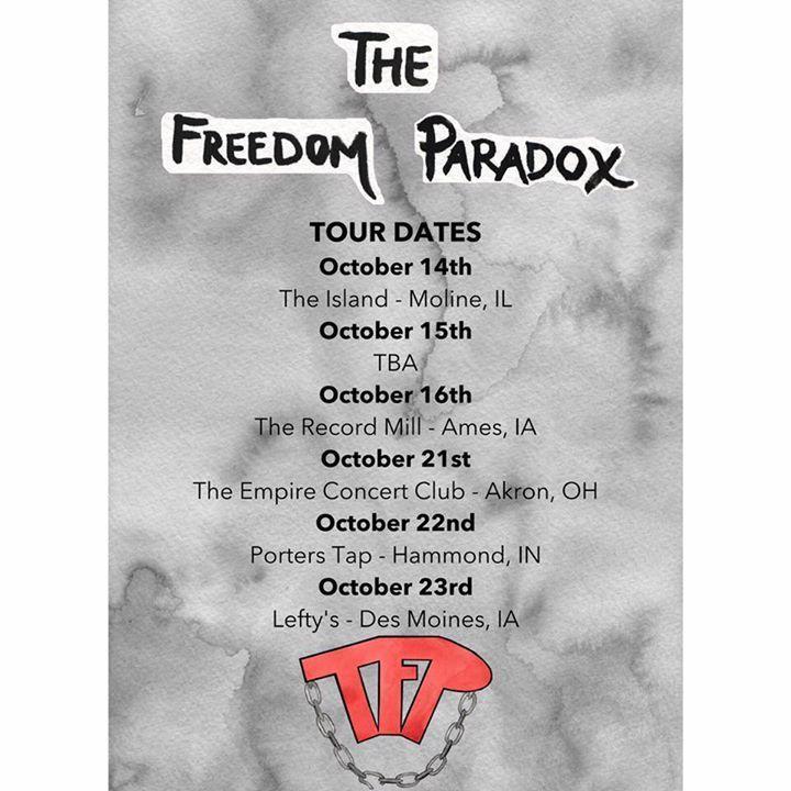 The Freedom Paradox Tour Dates
