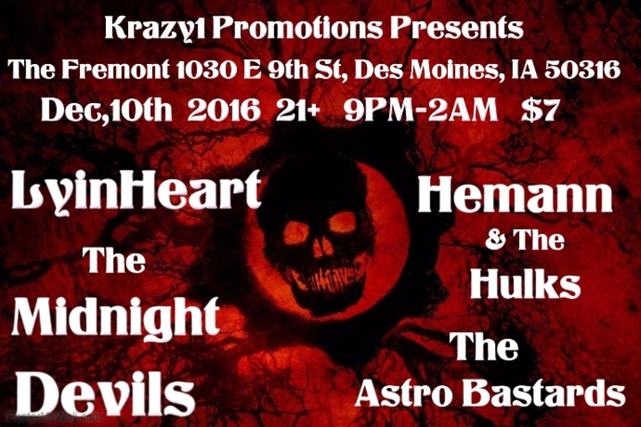 Krazy1 Promotions @ The Fremont - Des Moines, IA