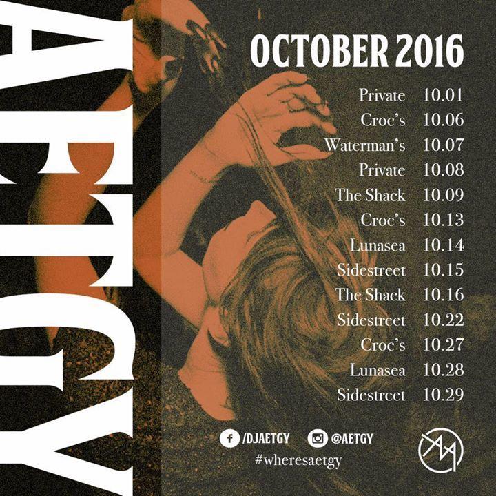 DJ AETGY Tour Dates