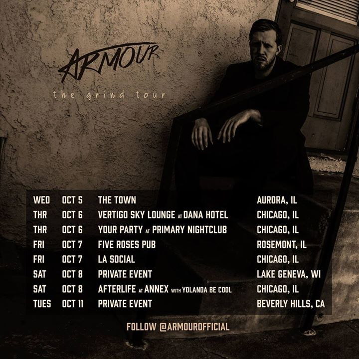 Armour Tour Dates