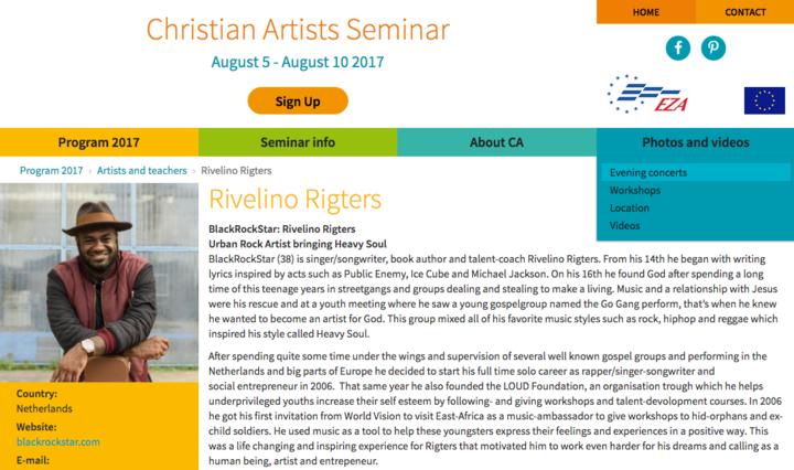 BlackRockStar @ International Christian Artists Seminar 2017 - Bad Honnef, Germany