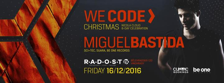 Nicola Cloud @ We Code Christmas w/Miguel Bastida - Radost FX - Prague, Czech Republic