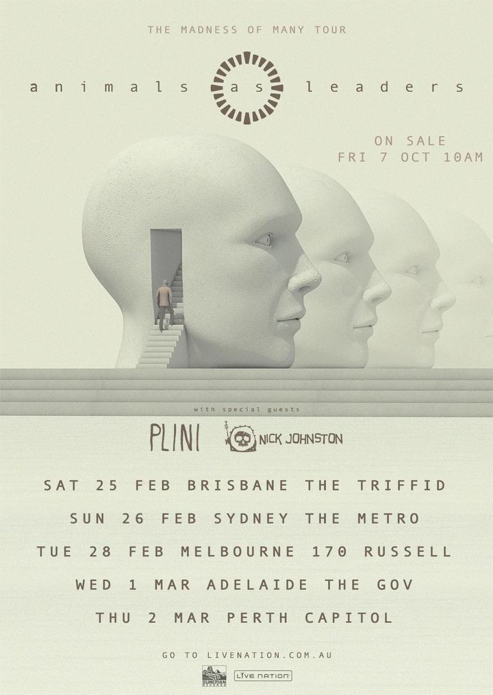 Animals as Leaders @ The Triffid - Newstead, Australia
