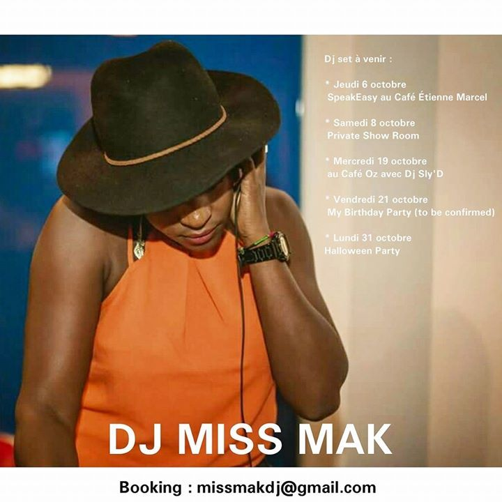Dj Miss MAK Tour Dates