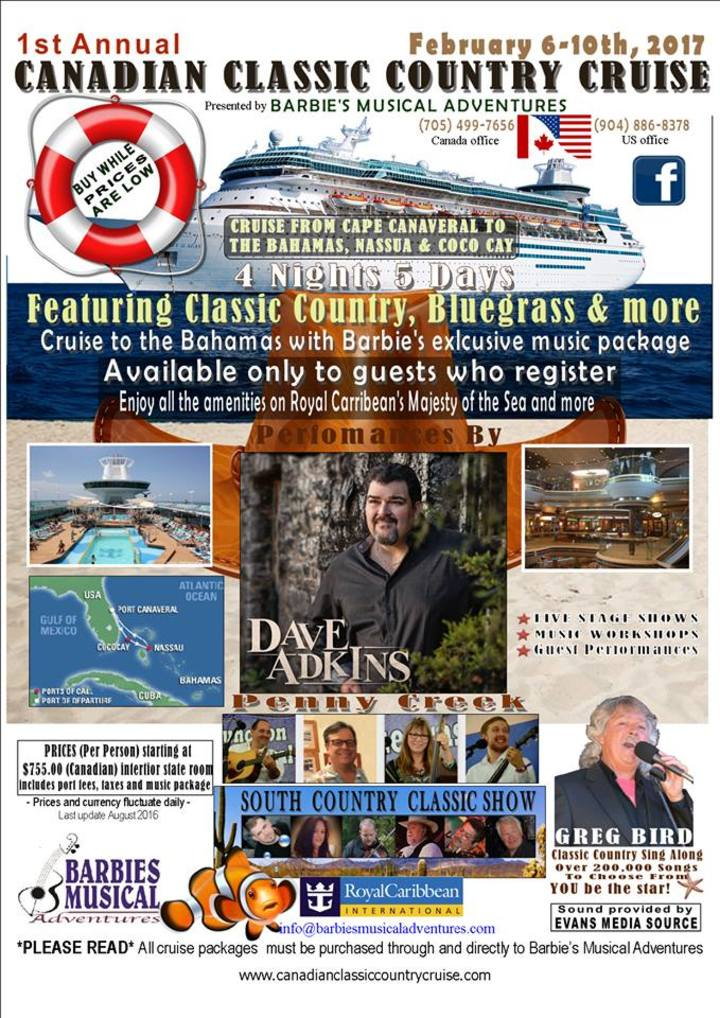 Dave Adkins @ Canadian Classic Country Cruise - Nassau, Bahamas