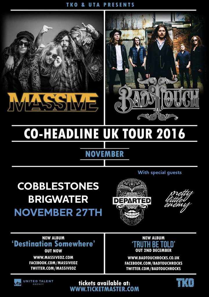 Departed @ Cobblestones w/Massive, Bad Touch - Bridgwater, United Kingdom