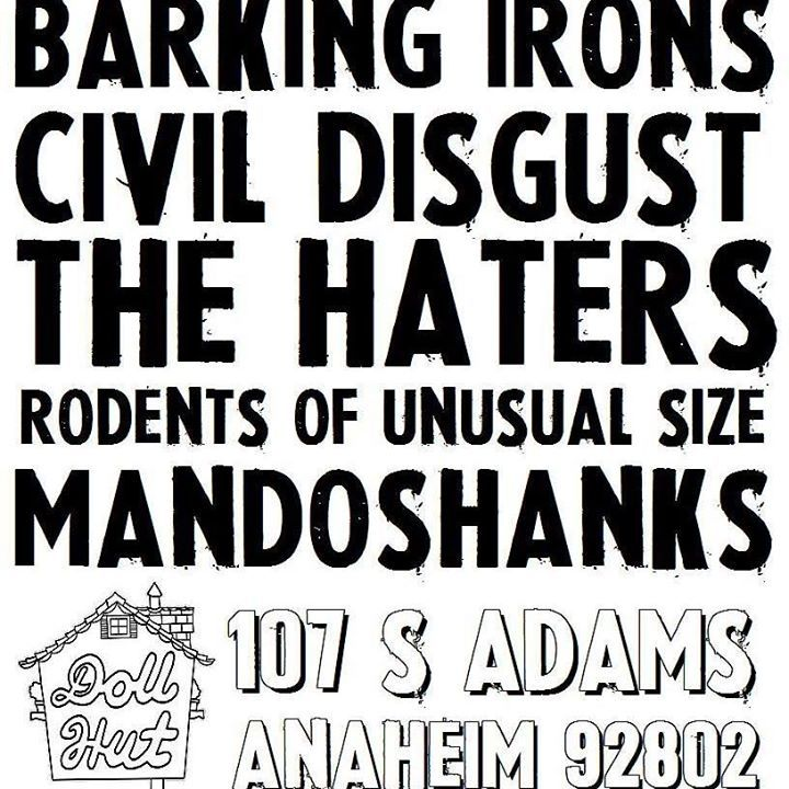 Rodents of Unusual Size Tour Dates