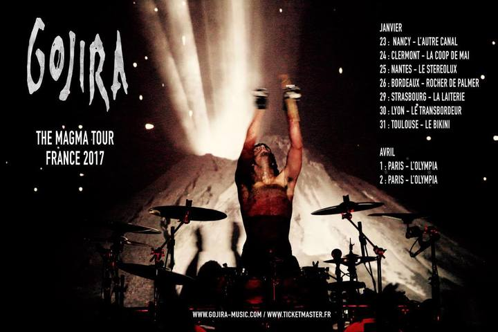Gojira @ L'AUTRE CANAL - Nancy, France