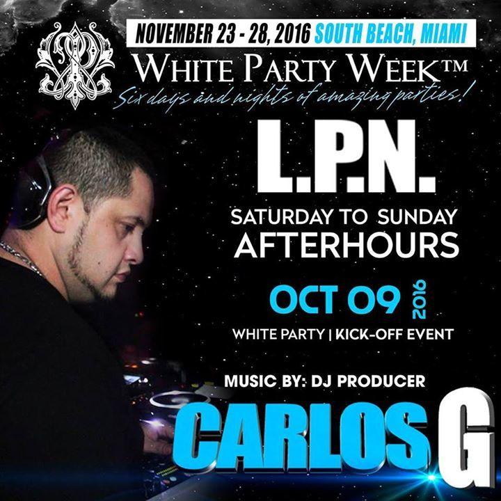 DJ Carlos G Tour Dates