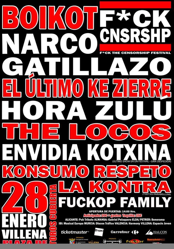 Konsumo Respeto @ Plaza de toros - Villena, Spain