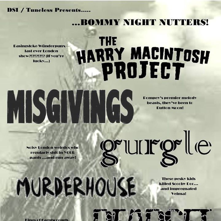 The Harry Macintosh Project Tour Dates