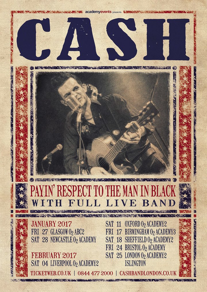 CASH (Payin' respect to the man in black) @ O2 Academy - Bristol, United Kingdom