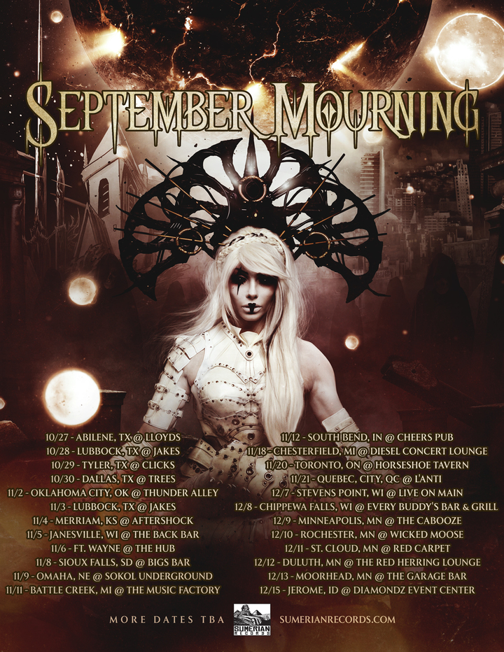 September Mourning @ Red Carpet - St Cloud, MN