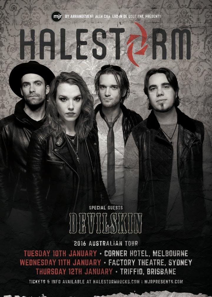 Halestorm @ Factory Theatre - Marrickville, Australia