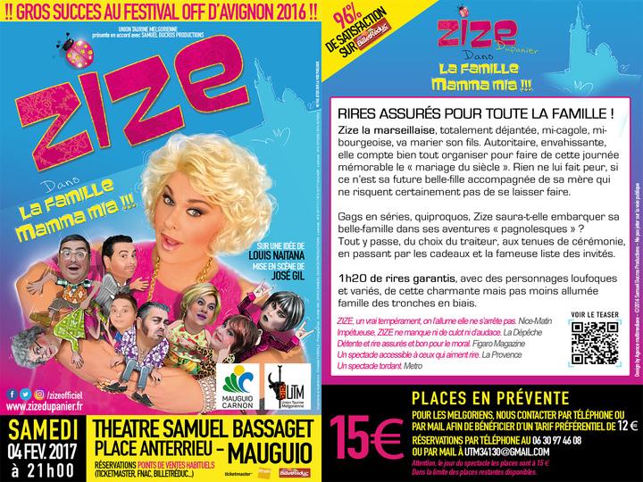 ZIZE Dupanier @ Théâtre Samuel BASSAGET - Mauguio, France