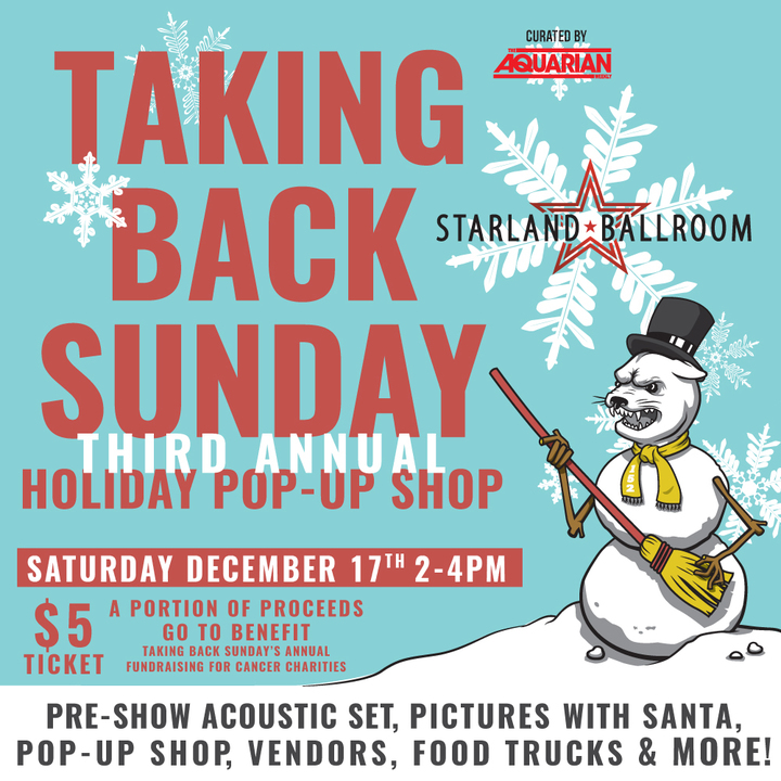 Taking Back Sunday @ Holiday POP-UP Shop + Acoustic at Starland 2-4pm - Sayreville, NJ